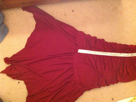 Juniors Deep Red Sequin Strap Rouched Design Formal Dress by E K Size Medium image 7