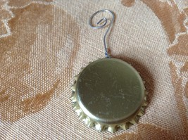 Just Beachy Ornament Resembling Bottle Cap 1 Inch Diameter image 2