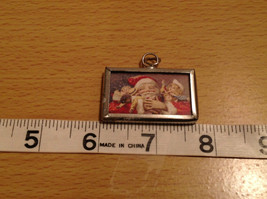 Just Believe Santa Versatile Metal and Glass Tag Charm Gift Tie On Reversible image 3