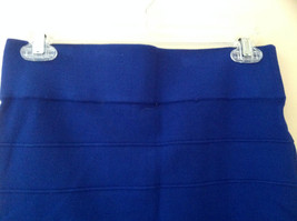 Juniors Blue Bodycon Above the Knee Skirt Wide Waistband Forever 21 Size Large image 2
