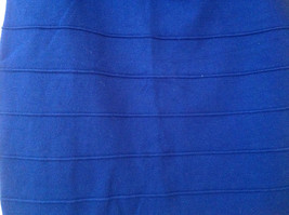 Juniors Blue Bodycon Above the Knee Skirt Wide Waistband Forever 21 Size Large image 5