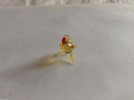 Micro Miniature small hand blown glass made USA NIB  yellow flamingo image 2