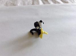 Micro Miniature small hand blown glass made USA black monkey holding banana image 2