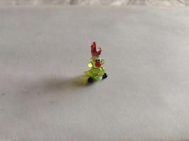 Micro Miniature small hand blown glass made USA NIB yellow green cockatoo parrot image 2