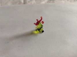Micro Miniature small hand blown glass made USA NIB yellow green cockatoo parrot image 3