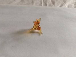 Micro Miniature small hand blown glass made USA amber colored kangaroo image 2