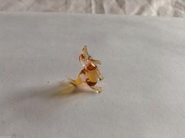 Micro Miniature small hand blown glass made USA amber colored kangaroo image 3