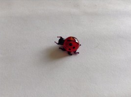 Micro Miniature small hand blown glass made USA cute ladybug image 2