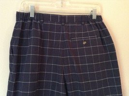 Karen Scott Plaid Dark Blue Soft to Touch Shorts 2 Front Pockets Size 14 image 4