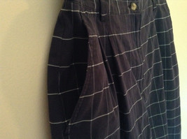 Karen Scott Plaid Dark Blue Soft to Touch Shorts 2 Front Pockets Size 14 image 3