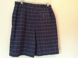 Karen Scott Plaid Dark Blue Soft to Touch Shorts 2 Front Pockets Size 14 image 5