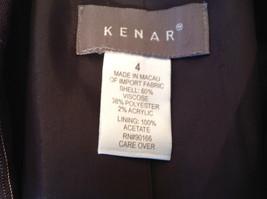 Kenar Dark Brown White Stripes 2 Front Pockets 1 Button Closure Blazer Size 4 image 11