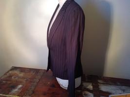 Kenar Dark Brown White Stripes 2 Front Pockets 1 Button Closure Blazer Size 4 image 9