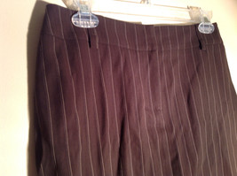 Kenar Brown with Pink Stripes Skirt Back Zipper Closure Belt Loops Size 4 image 2