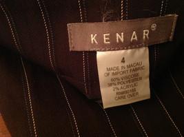 Kenar Brown with Pink Stripes Skirt Back Zipper Closure Belt Loops Size 4 image 6