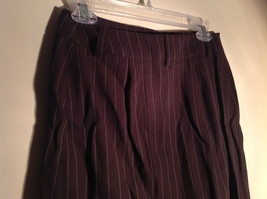 Kenar Brown with Pink Stripes Skirt Back Zipper Closure Belt Loops Size 4 image 4