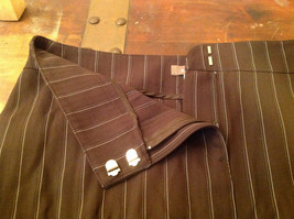 Kenar Brown with Pink Stripes Skirt Back Zipper Closure Belt Loops Size 4 image 7