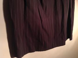 Kenar Brown with Pink Stripes Skirt Back Zipper Closure Belt Loops Size 4 image 5