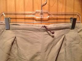 Khaki Athletic Shorts Adjustable Waist Netting Inside Pockets Measurements Below image 2