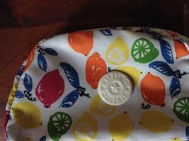 Kipling Cute Little Makeup Bag White with Lemon Orange Bright Fruit image 2