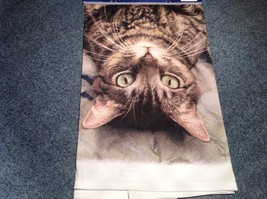 Kitchen Cotton Towel Standard Brown Tabby Cat Lying Down Profile Made in USA image 4
