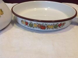 Kitchen ware w vegetable pattern 3 casseroles lids pan coffee pot vintage image 5