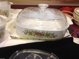 Kitchen ware w vegetable pattern 3 casseroles lids pan coffee pot vintage image 7