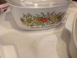 Kitchen ware w vegetable pattern 3 casseroles lids pan coffee pot vintage image 10