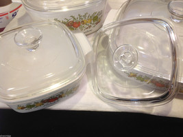 Kitchen ware w vegetable pattern 3 casseroles lids pan coffee pot vintage image 8