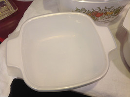 Kitchen ware w vegetable pattern 3 casseroles lids pan coffee pot vintage image 9