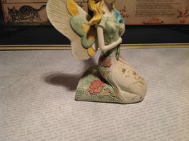 Kneeling Angel with Bouquet Mira Flora Handcrafted Resin Angel Figurine image 5