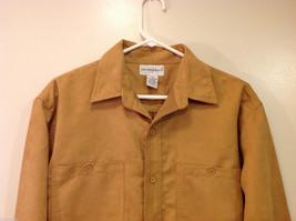 Knights Bridge Mole Skin (microfiber suede) Sand Brown Casual Top Shirt, Size M image 3