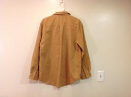 Knights Bridge Mole Skin (microfiber suede) Sand Brown Casual Top Shirt, Size M image 2