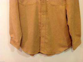 Knights Bridge Mole Skin (microfiber suede) Sand Brown Casual Top Shirt, Size M image 4