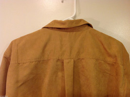 Knights Bridge Mole Skin (microfiber suede) Sand Brown Casual Top Shirt, Size M image 5