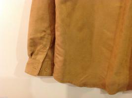 Knights Bridge Mole Skin (microfiber suede) Sand Brown Casual Top Shirt, Size M image 6