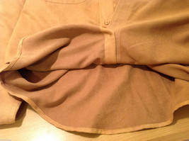 Knights Bridge Mole Skin (microfiber suede) Sand Brown Casual Top Shirt, Size M image 9