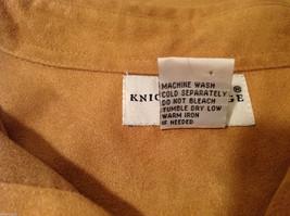Knights Bridge Mole Skin (microfiber suede) Sand Brown Casual Top Shirt, Size M image 8