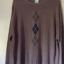 Knightsbridge Long Sleeve Brown Sweater Size XL image 3