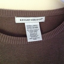 Knightsbridge Long Sleeve Brown Sweater Size XL image 5