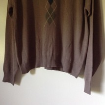 Knightsbridge Long Sleeve Brown Sweater Size XL image 4