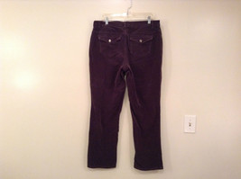 L A Blues Velvet Dark Brown Jeans Size 18W Button and Zipper Closure Pockets image 2