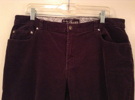 L A Blues Velvet Dark Brown Jeans Size 18W Button and Zipper Closure Pockets image 3
