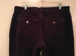L A Blues Velvet Dark Brown Jeans Size 18W Button and Zipper Closure Pockets image 5