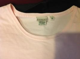 L Bean short sleeve shirt light pink size medium for women image 3