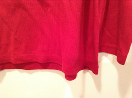 LA CERA Red Casual Long Sleeve Pajama Top Scoop Neck Size Small Sheep on Front image 2