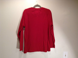 LA CERA Red Casual Long Sleeve Pajama Top Scoop Neck Size Small Sheep on Front image 6
