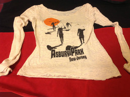 Ladies Asbury Park New Jersey Graphic Long Sleeve Pullover Top Size 14 Inch W image 2