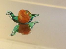 Micro miniature small hand blown glass garden snail 2  made in USA  NIB image 3