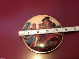Ladies double mirrored compact with two side images renaissance scenes image 2